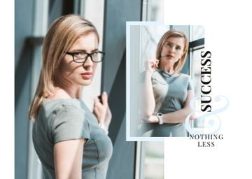 Business Success Concept with Confident Young Woman
