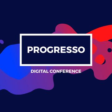 Digital Conference Announcement on Paint blots