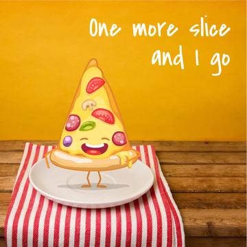 Funny laughing Piece of Pizza