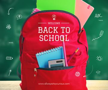 Back to School stationary in backpack