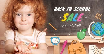 Back to School Sale Girl student in classroom