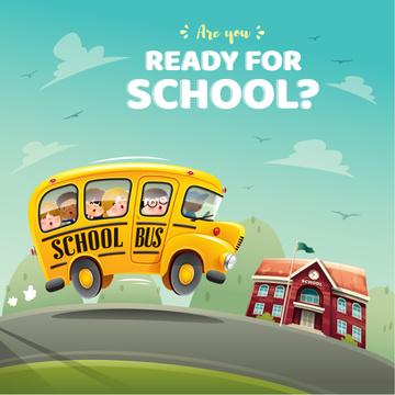 Kids taking School Bus