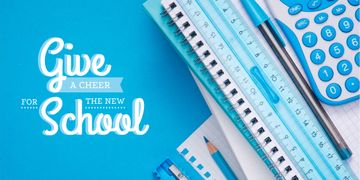 School stationary and calculator