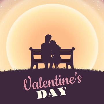 Loving Couple on Valentine's Day
