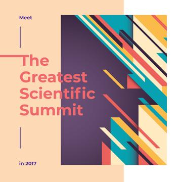 Summit Invitation Colorful Geometric Pattern