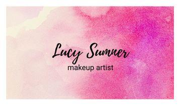 Makeup Artist Services with Colorful Paint Blots