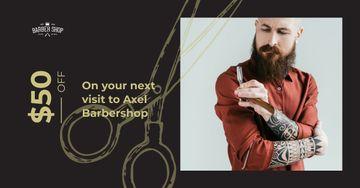 Stylish barber with razor