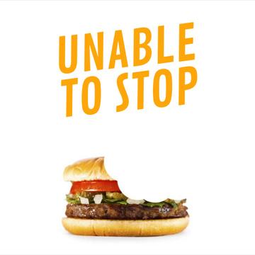 Biting yummy Burger