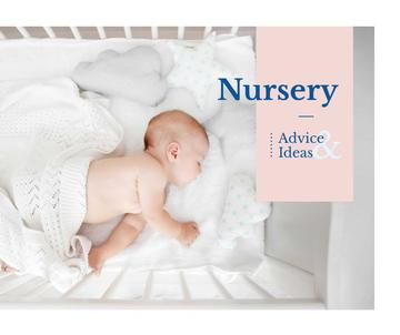 Nursery Design Baby Sleeping in Crib