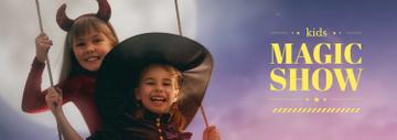 Magic Show Inspiration Girls in Halloween Costumes