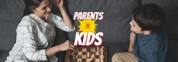 Mother and Son Playing Chess