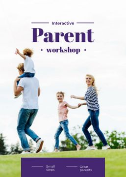 Parents with Kids having fun outdoors