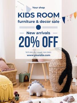 Cozy nursery Interior in blue