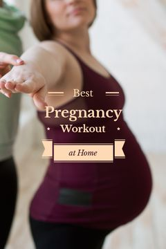 Pregnancy Workout Woman Doing Yoga