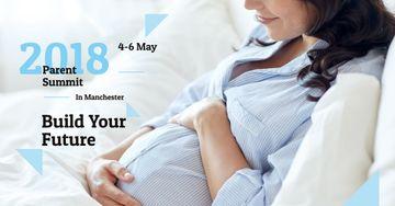 Parenthood Event Announcement Happy Pregnant Woman