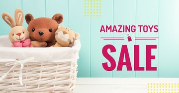 Sale Announcement Stuffed Toys in Basket