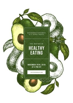 Green avocado halves for Healthy eating