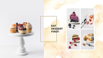 Delicious desserts assortment
