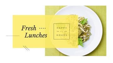 Lunch Menu with Cooked Italian Pasta