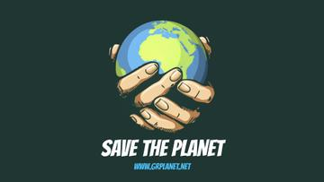 Planet Protection Earth Globe in Hands