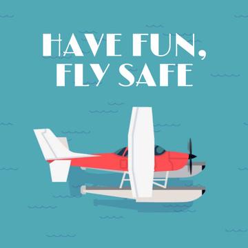 Seaplane landing on water surface