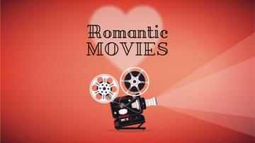 Film projector with Valentine's Day Movie