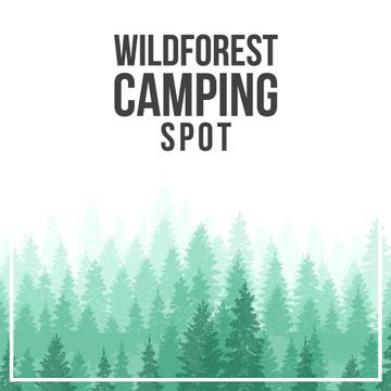 Green coniferous Foggy Forest