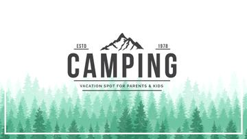 Camping Tour Ad Green Coniferous Forest