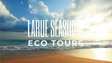Sea Trip Ad Wave Rolling on Sandy Beach