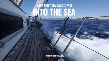 Vacation Offer Yacht Sailing Fast on Blue Sea