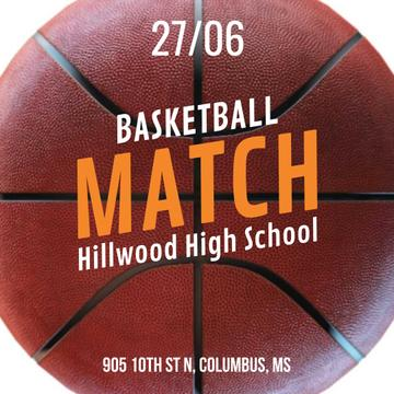 Match Announcement with Rotating basketball ball