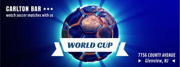 Spinning Earth in shape of soccer ball