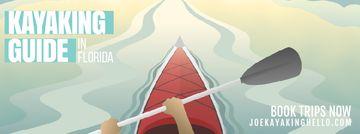 Man kayaking on calm river