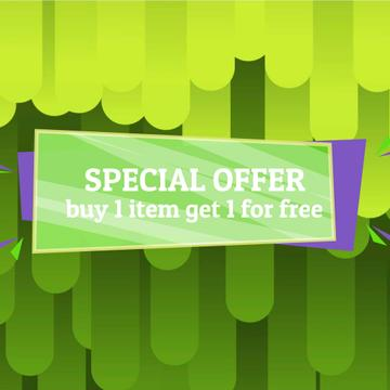 Special Offer Ad with Green moving lines