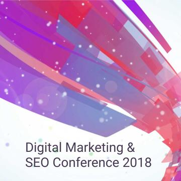 Marketing Conference Announcement with Bright flowing lines