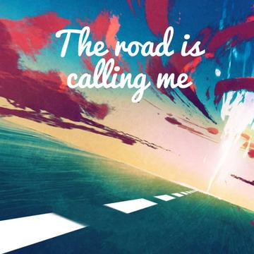 Road under sunset sky