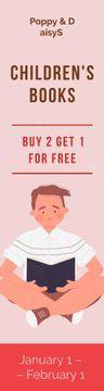 Bookstore Offer Little Girl Reading