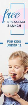 Kids Lunch Offer Girl Eating Cereals