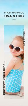 Uv Protection Guide Little Girl at the Beach
