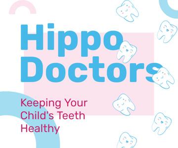 Kids Dental Clinic Ad Funny Cartoon Teeth