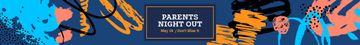 Night Out Invitation Colorful Paint Blots