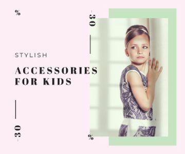 Kids' Accessories Sale Little Girl in Fancy Dress