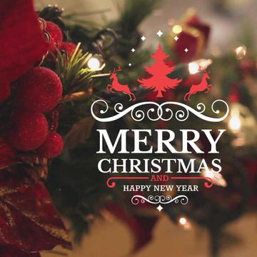 Blinking garland on Christmas tree