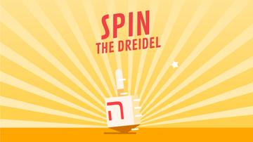 Spinning dreidel on Hanukkah