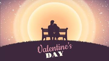 Couple on a bench on Valentine's Day