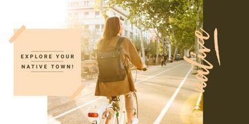 Riding bike in city