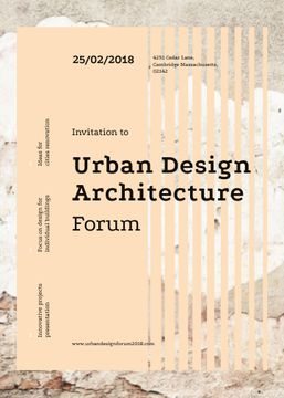 Urban design forum ad on Beige concrete wall