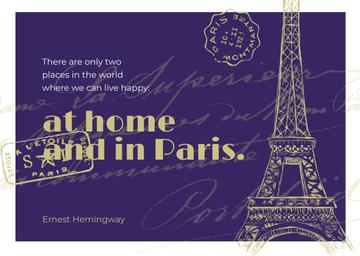 Paris Travelling Inspiration with Eiffel Tower