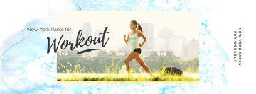 Girl running outdoors