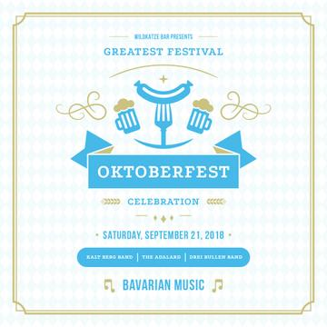 Traditional Oktoberfest treat for festival invitation